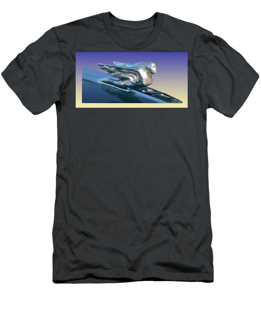 Prints Of Classic Cadillac Mascots. Framed Prints Of Cadillac Mascots. Framed Prints Of Cadillac Hood Ornaments Men's T-Shirt (Athletic Fit) featuring the photograph 1941 Cadillac Mascot by Jack Pumphrey