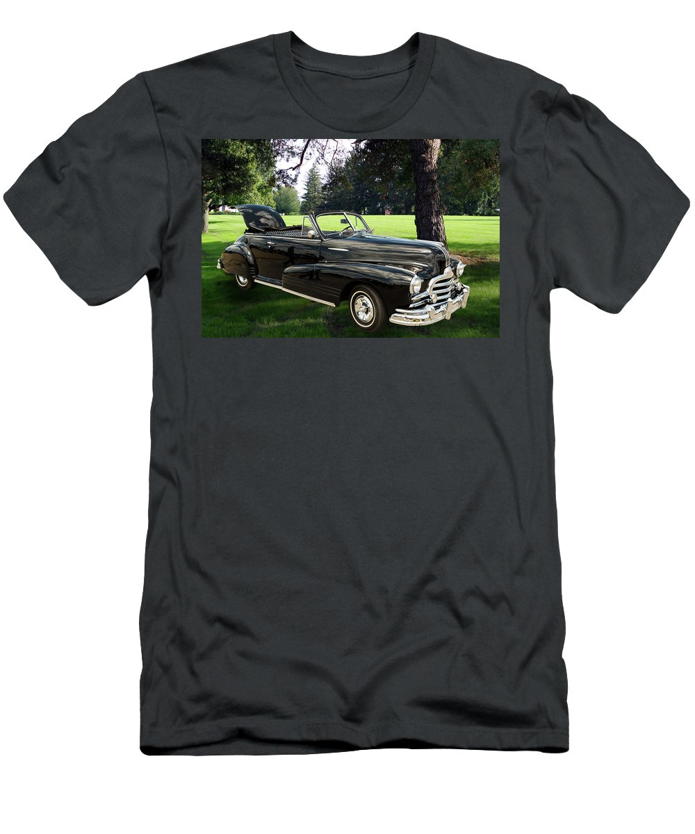 1947 Pontiac Convertible Men's T-Shirt (Athletic Fit) featuring the photograph 1947 Pontiac Convertible Photograph 5544.07 by M K Miller