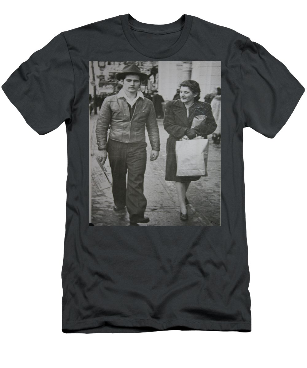 1950 Fashion Black And White Photograph Old Images Classic Men's T-Shirt (Athletic Fit) featuring the photograph 1950s Fashion by Andrea Lawrence