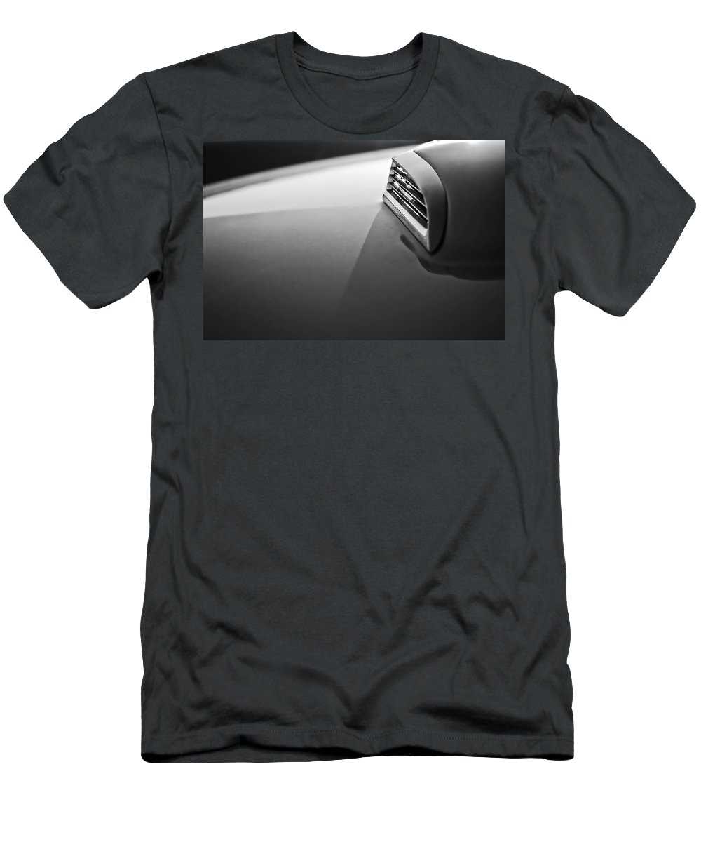 1957 Ford Thunderbird Men's T-Shirt (Athletic Fit) featuring the photograph 1957 Ford Thunderbird Scoop 2 by Jill Reger