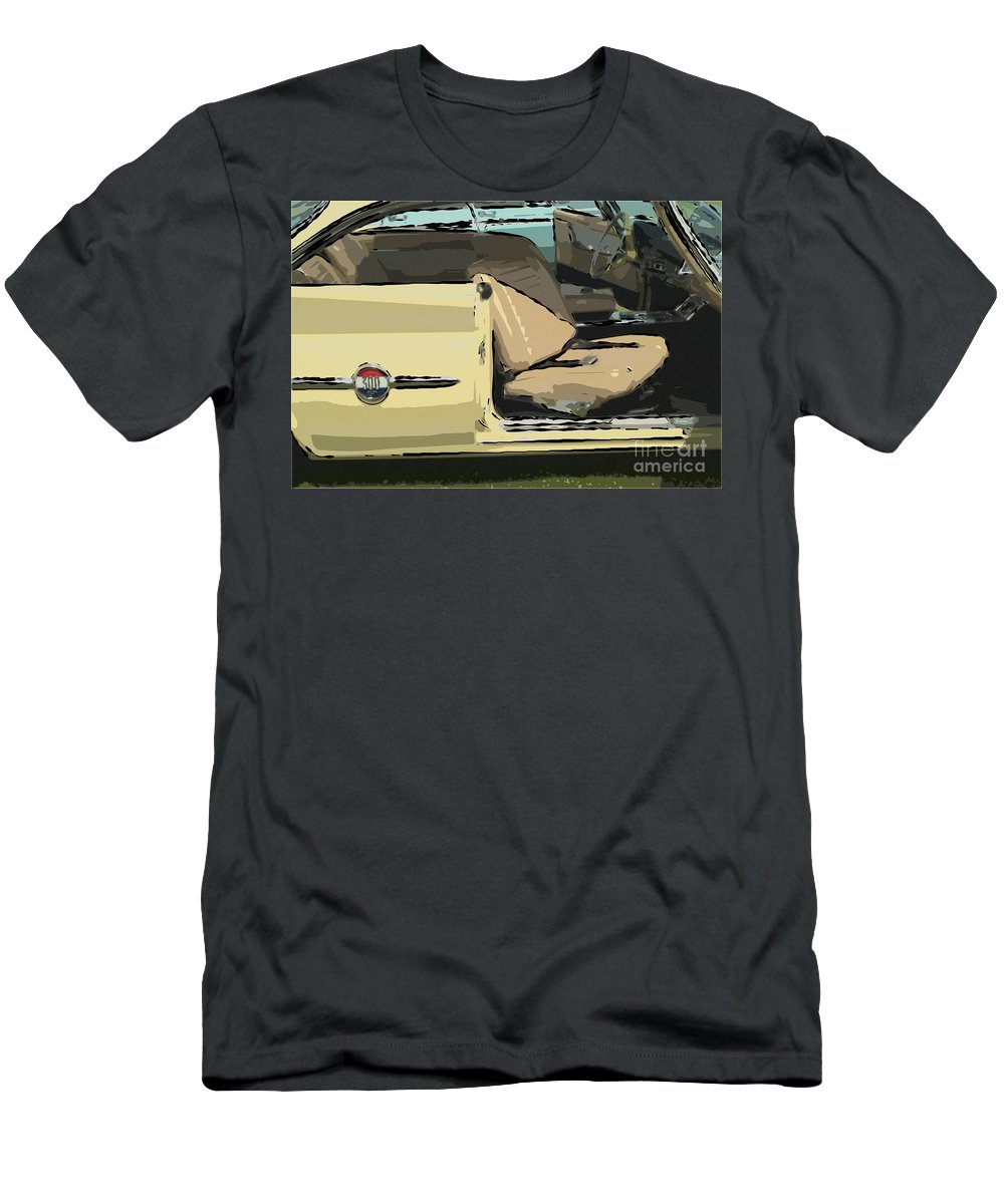 1960 Chrysler 300-f Muscle Car American Automobile Men's T-Shirt (Athletic Fit) featuring the photograph 1960 Chrysler 300-f Muscle Car by David Zanzinger