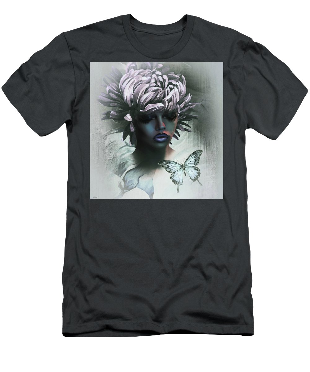 Flora Men's T-Shirt (Athletic Fit) featuring the mixed media Sensual Beautiful Dahlia by G Berry