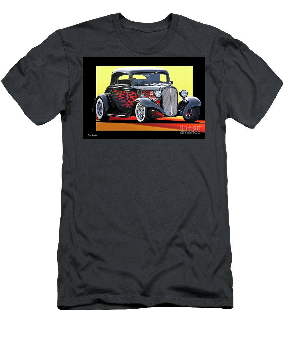 Hot Rod Key Words Men's T-Shirt (Athletic Fit) featuring the photograph 1933 Chevrolet Coupe by Dave Koontz