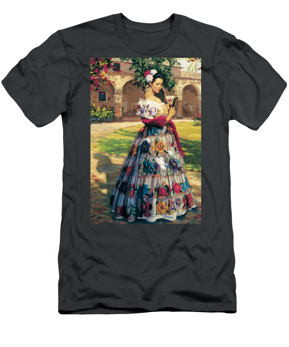 Figure Men's T-Shirt (Athletic Fit) featuring the painting Al Aire Libre by Jean Hildebrant