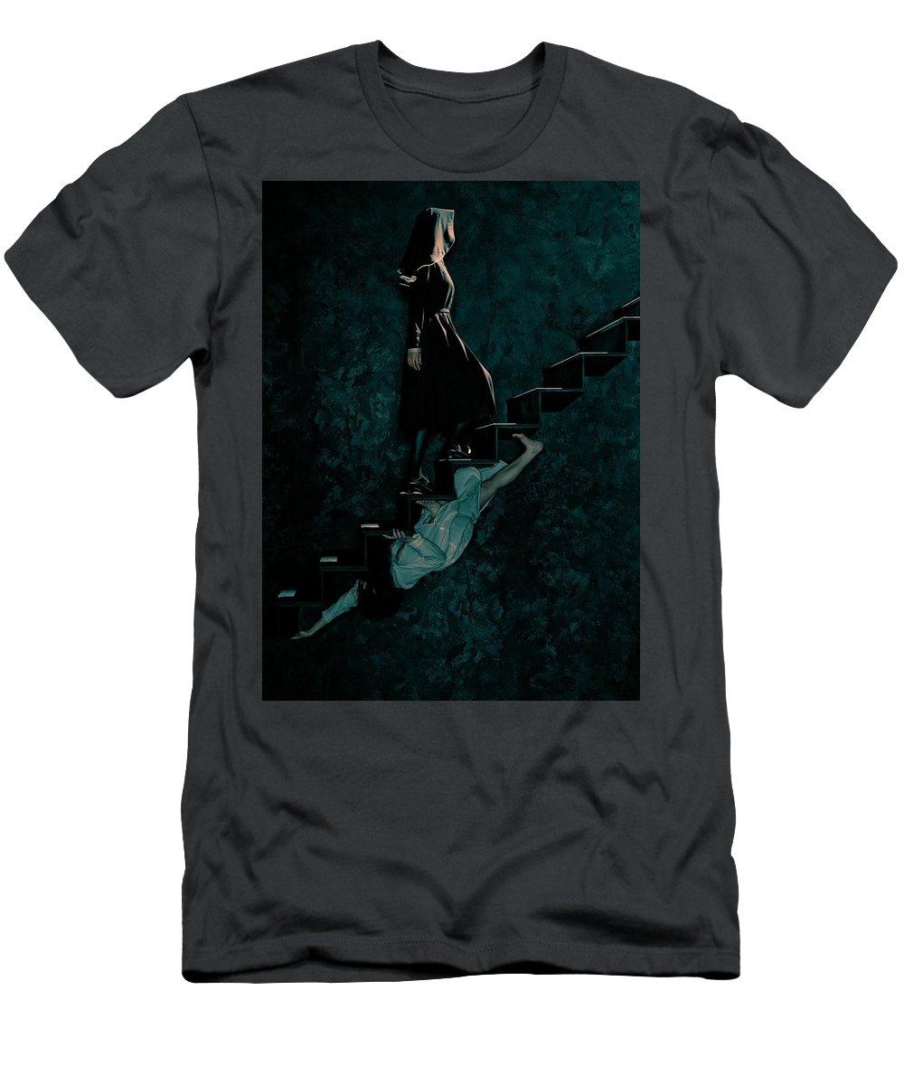 American Horror Story Asylum 2012 Men's T-Shirt (Athletic Fit) featuring the digital art American Horror Story Asylum 2012 by Geek N Rock