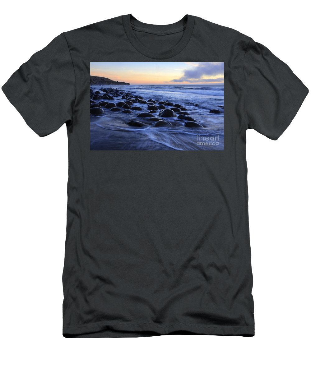 Bowling Ball Beach Men's T-Shirt (Athletic Fit) featuring the photograph Bowling Ball Beach by Bob Christopher