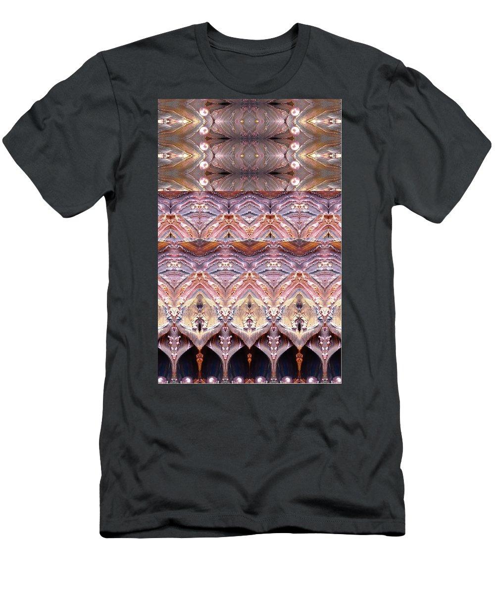 Sand Men's T-Shirt (Athletic Fit) featuring the digital art Desert Painting by Sandrine Kespi