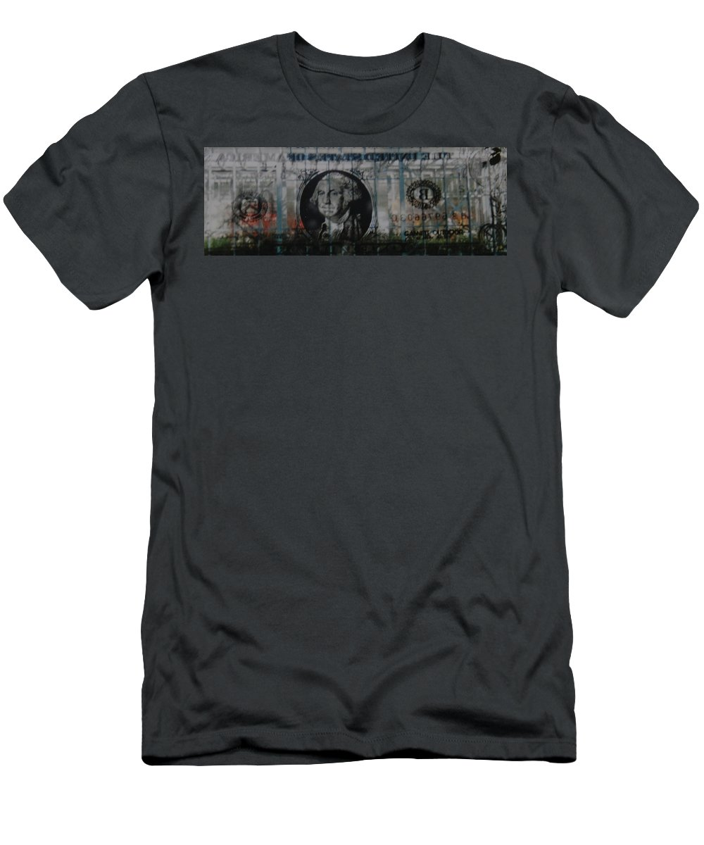 Park Men's T-Shirt (Athletic Fit) featuring the photograph Dollar Bill by Rob Hans