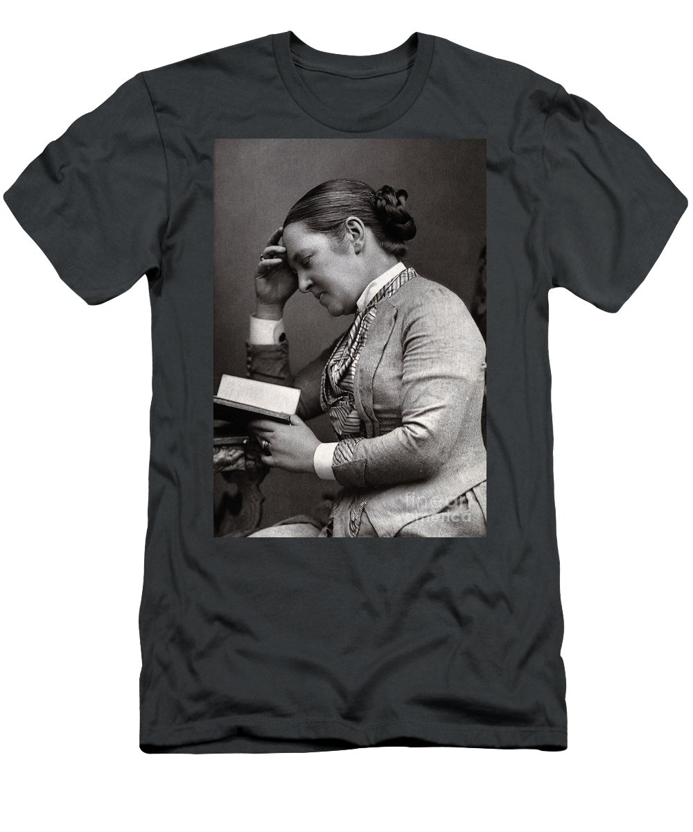 Historic Men's T-Shirt (Athletic Fit) featuring the photograph Elizabeth Garrett Anderson, English by Wellcome Images