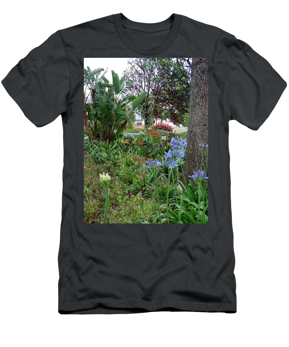 Funchal Maderia Men's T-Shirt (Athletic Fit) featuring the photograph Funchal Maderia by Brett Winn