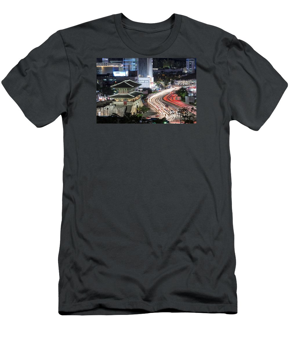Ancient Men's T-Shirt (Athletic Fit) featuring the photograph Heunginjimun Gate In Seoul by Didier Marti