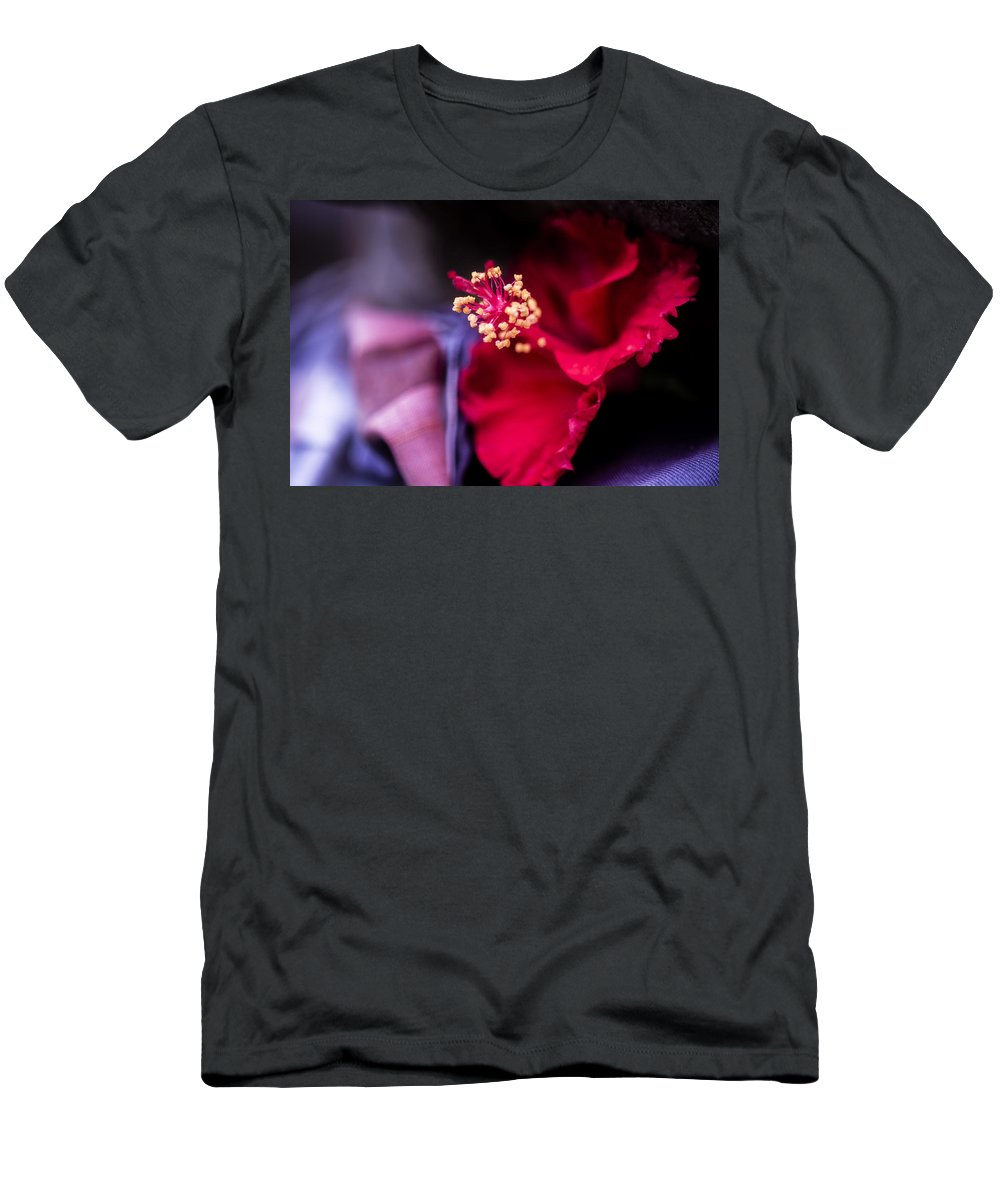 Architecture Men's T-Shirt (Athletic Fit) featuring the photograph Hibiscus Flower by Jijo George