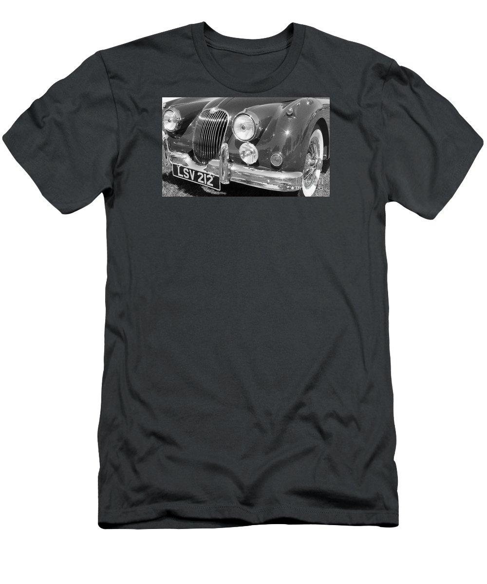 Jaguar Men's T-Shirt (Athletic Fit) featuring the photograph Jaguar Xk Series by Neil Zimmerman