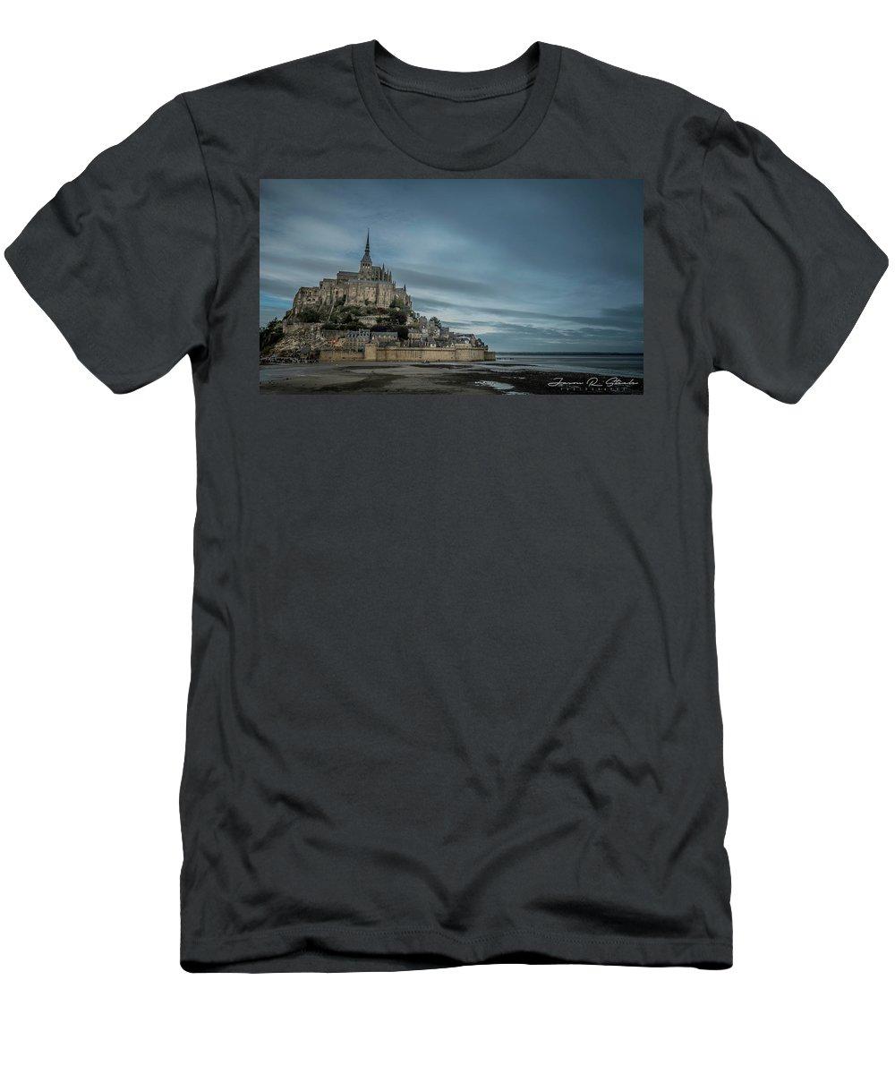 Water Men's T-Shirt (Athletic Fit) featuring the photograph Le Mont Saint Michel by Jason Steele