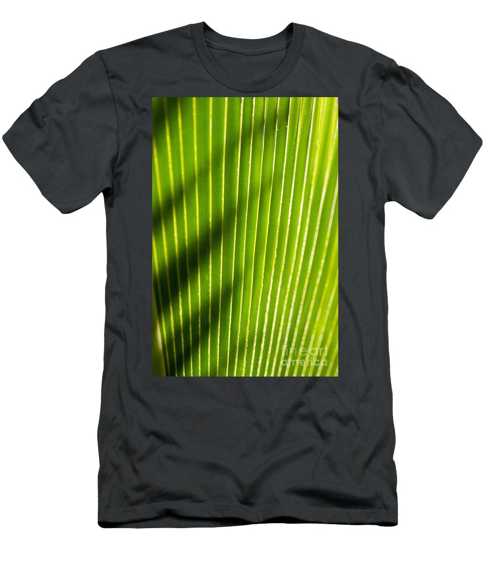 Botanical Men's T-Shirt (Athletic Fit) featuring the photograph Leaf Close-up by Tomas del Amo - Printscapes