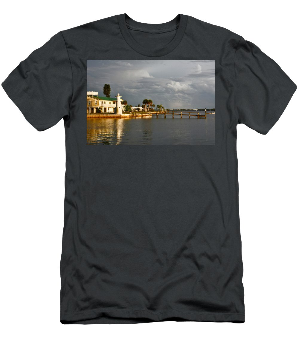 Florida Men's T-Shirt (Athletic Fit) featuring the photograph Lighthouse by Alison Belsan