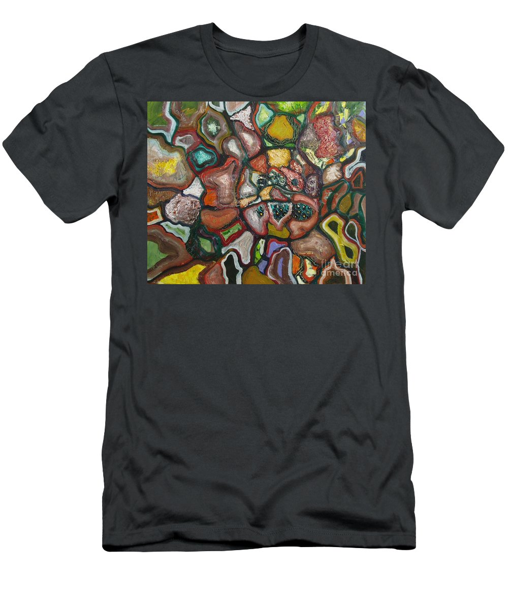 Abstract Paintings Paintings Abstract Art Paintings Men's T-Shirt (Athletic Fit) featuring the painting Mindscape by Seon-Jeong Kim