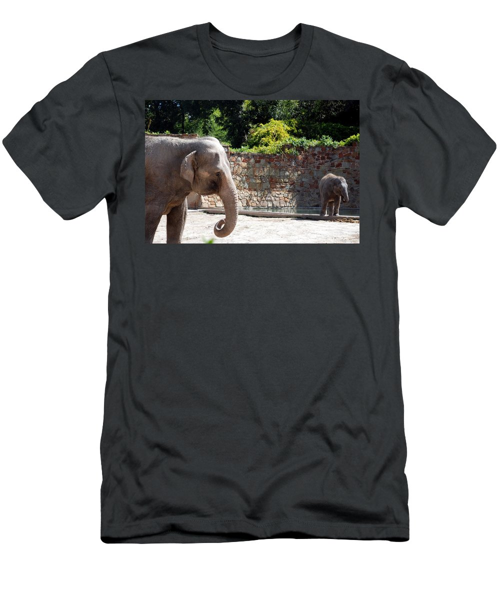 Ft. Worth Men's T-Shirt (Athletic Fit) featuring the photograph Mother And Child by Kenny Glover