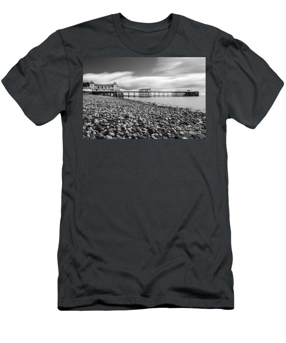 Penarth Pier Men's T-Shirt (Athletic Fit) featuring the photograph Penarth Pier 5 by Steve Purnell