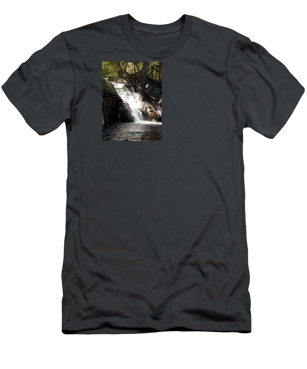 Poplar Stream Falls Men's T-Shirt (Athletic Fit) featuring the photograph Poplar Stream Falls by Catherine Gagne