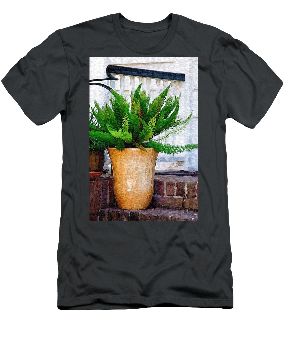 Potted Plant Men's T-Shirt (Athletic Fit) featuring the photograph Potted Plant by Donna Bentley