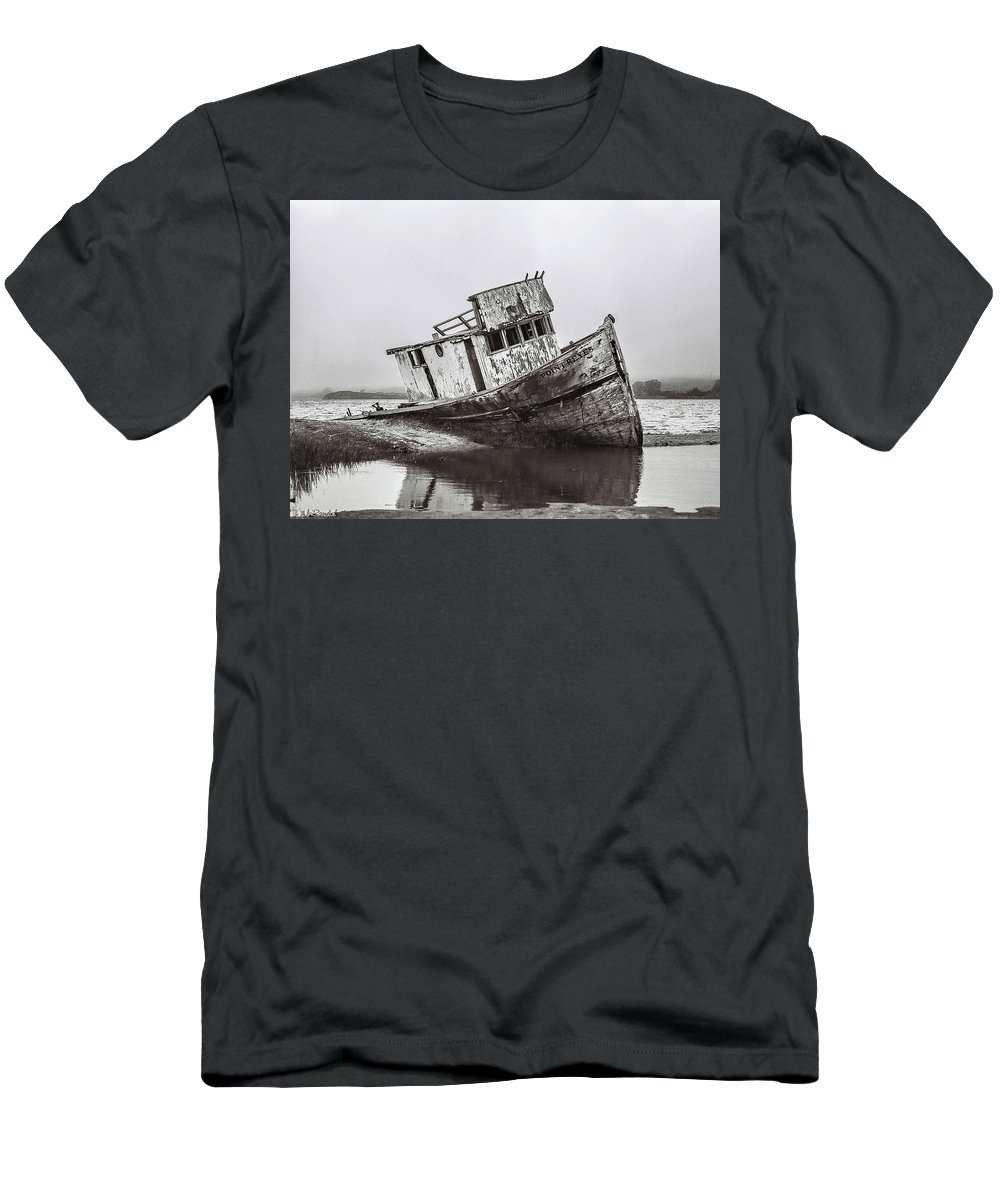 Pt Reyes Men's T-Shirt (Athletic Fit) featuring the photograph Pt Reyes by Mike Ronnebeck