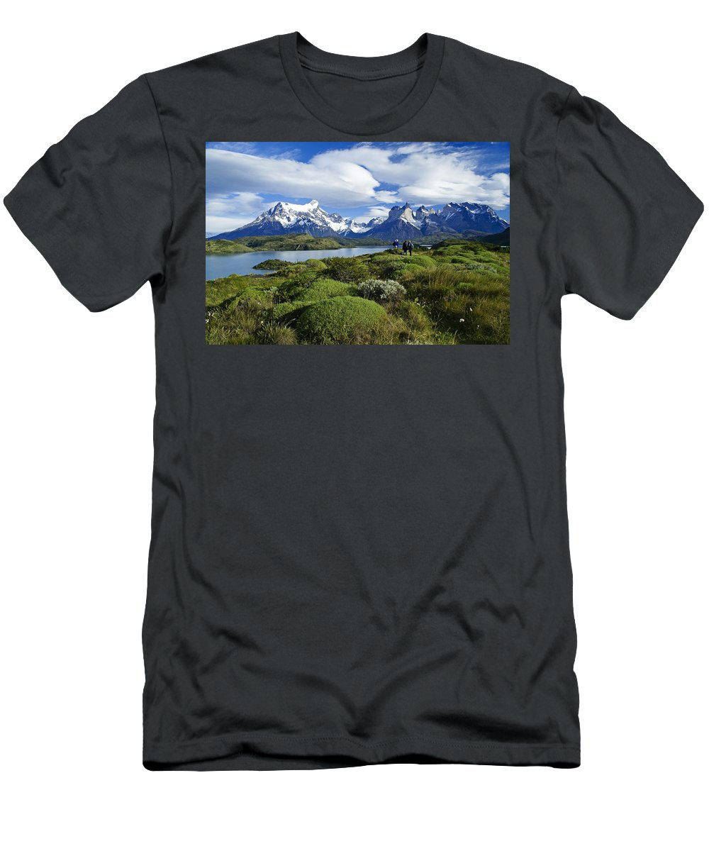 Patagonia Men's T-Shirt (Athletic Fit) featuring the photograph Springtime In Patagonia by Michele Burgess