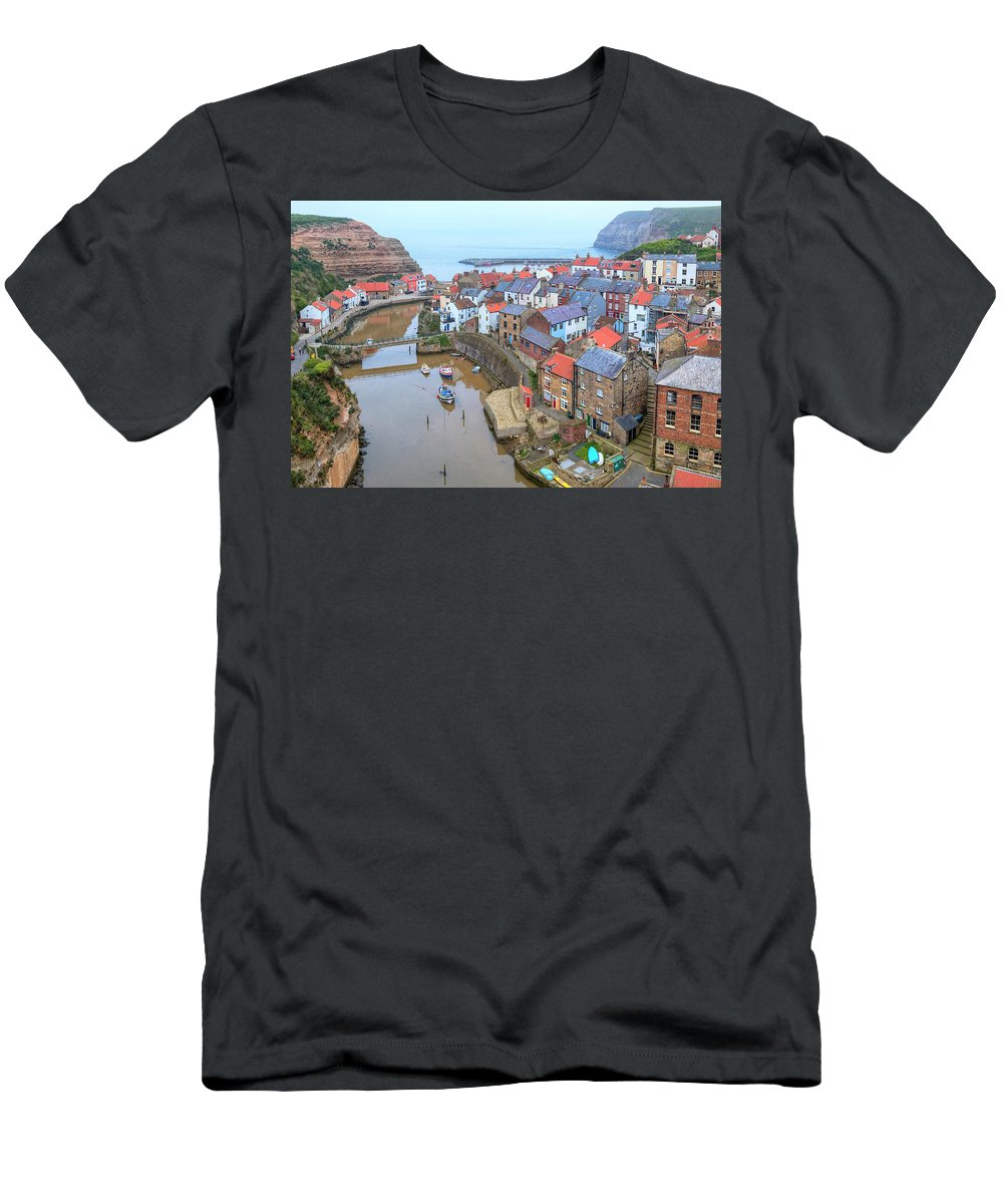 Staithes Men's T-Shirt (Athletic Fit) featuring the photograph Staithes - England by Joana Kruse