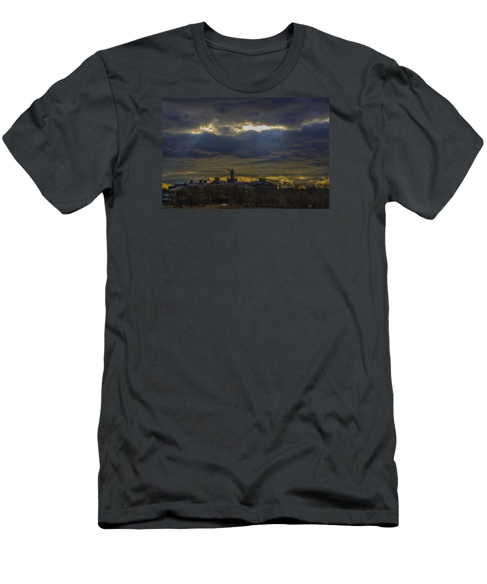 Sunset Men's T-Shirt (Athletic Fit) featuring the photograph Sunset1 by Alexander Fuza
