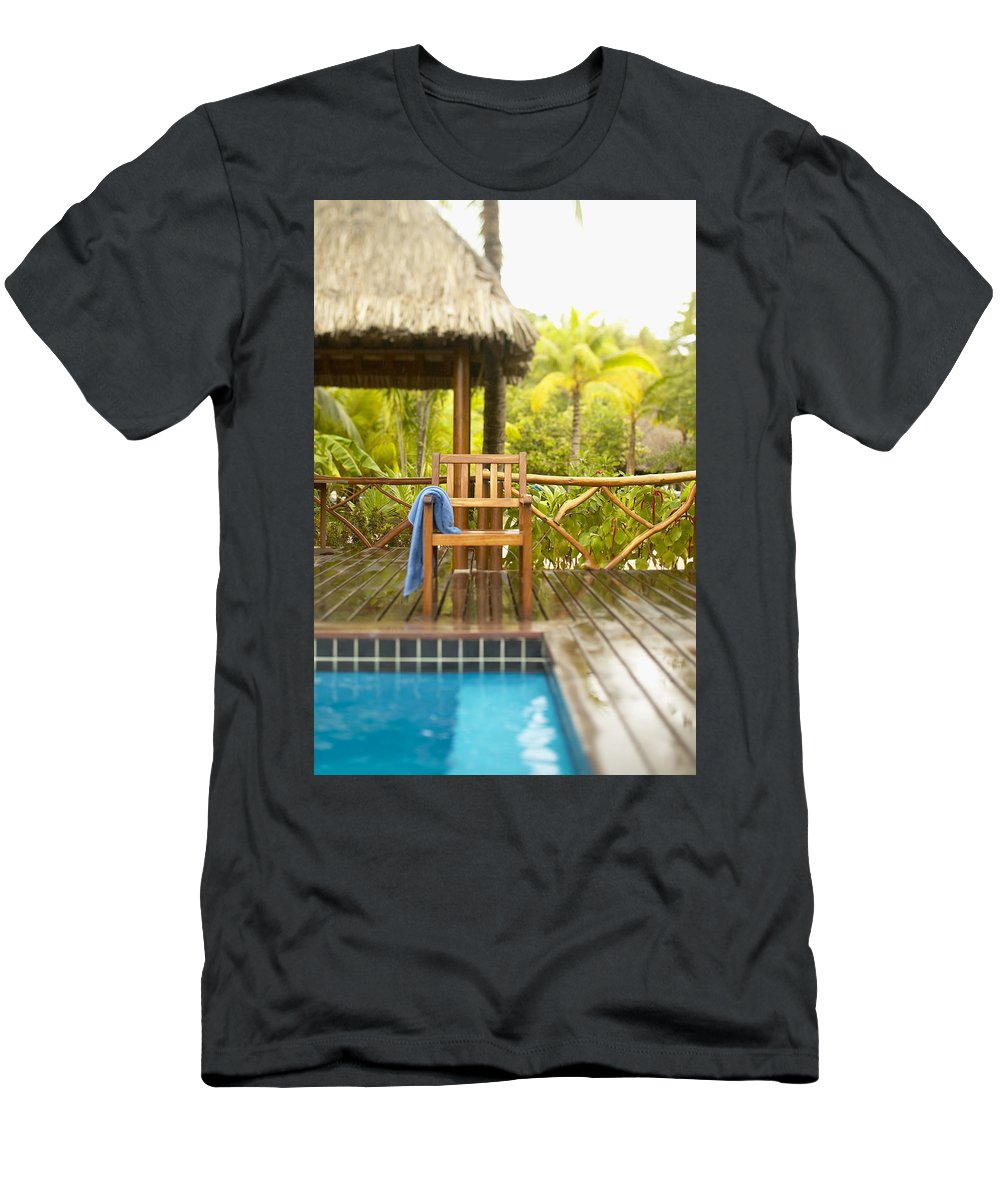 Blue Men's T-Shirt (Athletic Fit) featuring the photograph Tahiti Bora Bora by Kyle Rothenborg - Printscapes
