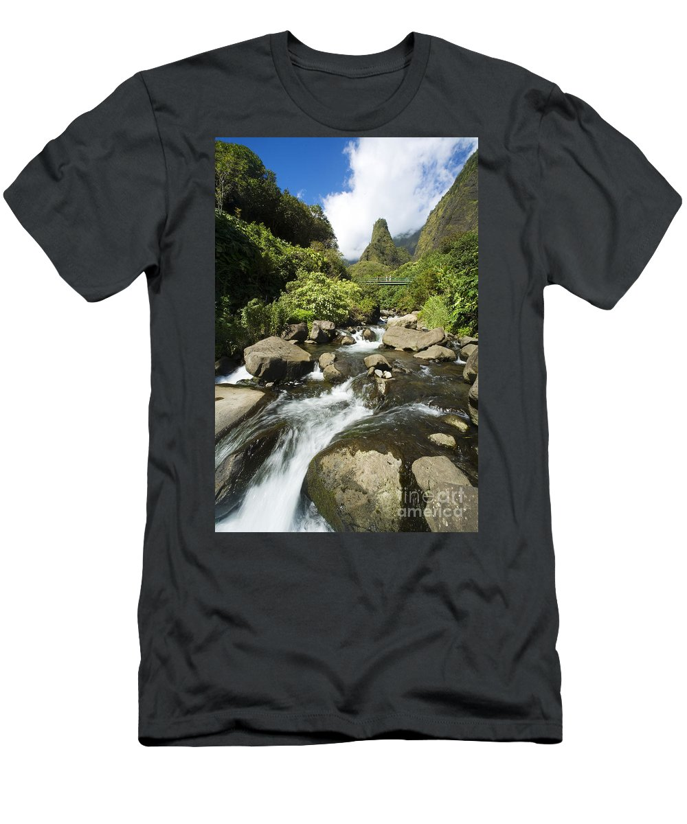 Afternoon Men's T-Shirt (Athletic Fit) featuring the photograph View Of Iao Needle by Ron Dahlquist - Printscapes