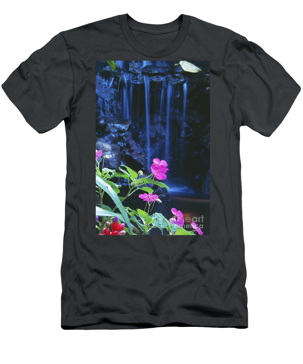 Active Men's T-Shirt (Athletic Fit) featuring the photograph Waimea Falls Park by Bill Brennan - Printscapes