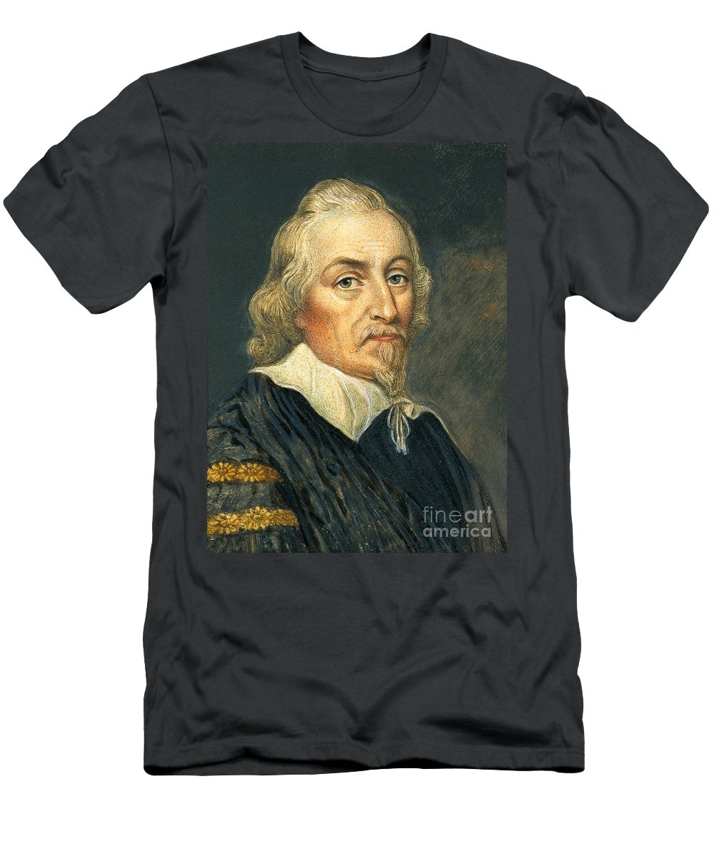 Science Men's T-Shirt (Athletic Fit) featuring the photograph William Harvey, English Physician by Wellcome Images
