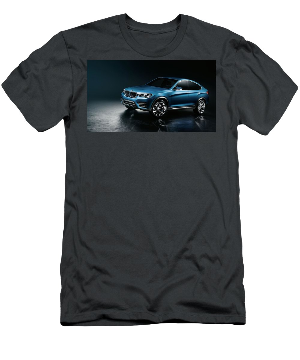 Bmw X Concept 1 Men's T-Shirt (Athletic Fit) featuring the digital art 2013 Bmw X4 Concept 1 by Mery Moon