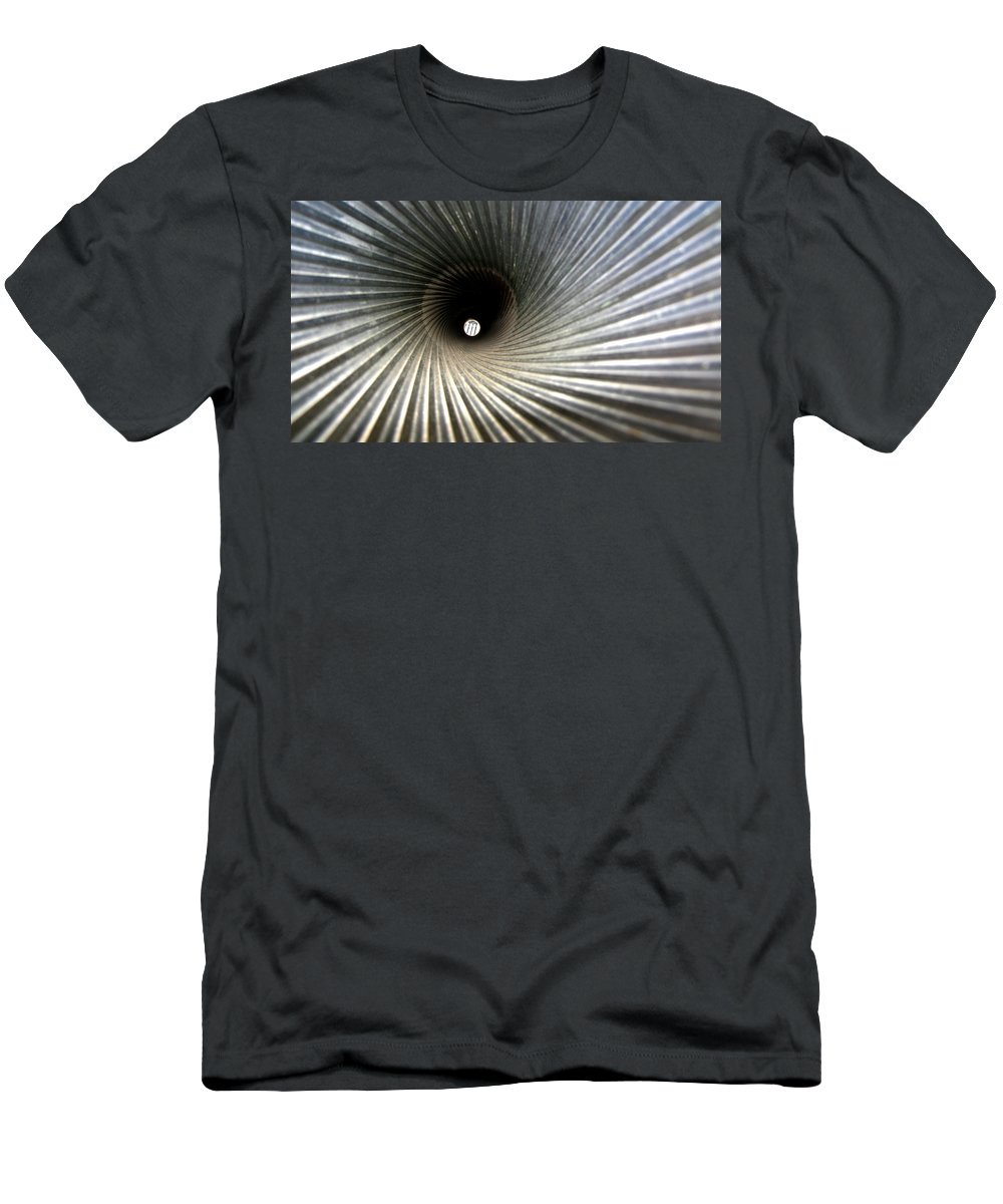Gun Men's T-Shirt (Athletic Fit) featuring the photograph 20mm Submarine Deck Gun Barrel by Sarah Houser