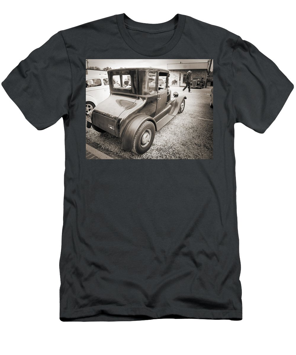 1927 Ford Coupe T-Shirt featuring the photograph 1927 Ford Coupe Car Antique Vintage Automobile Photograph Fine A by M K Miller