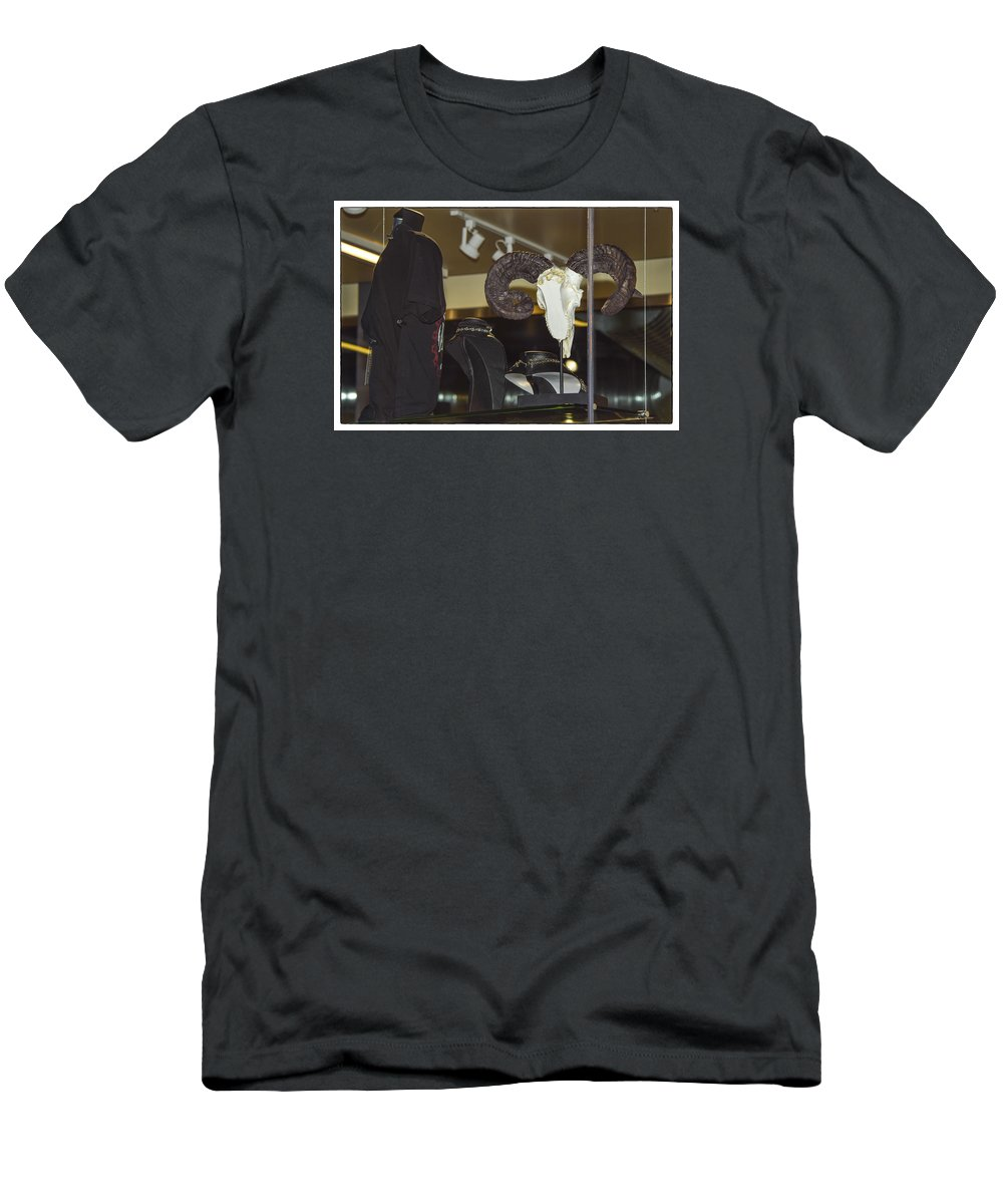 Goat Men's T-Shirt (Athletic Fit) featuring the photograph Screw It, Just Ride by Marit Runyon