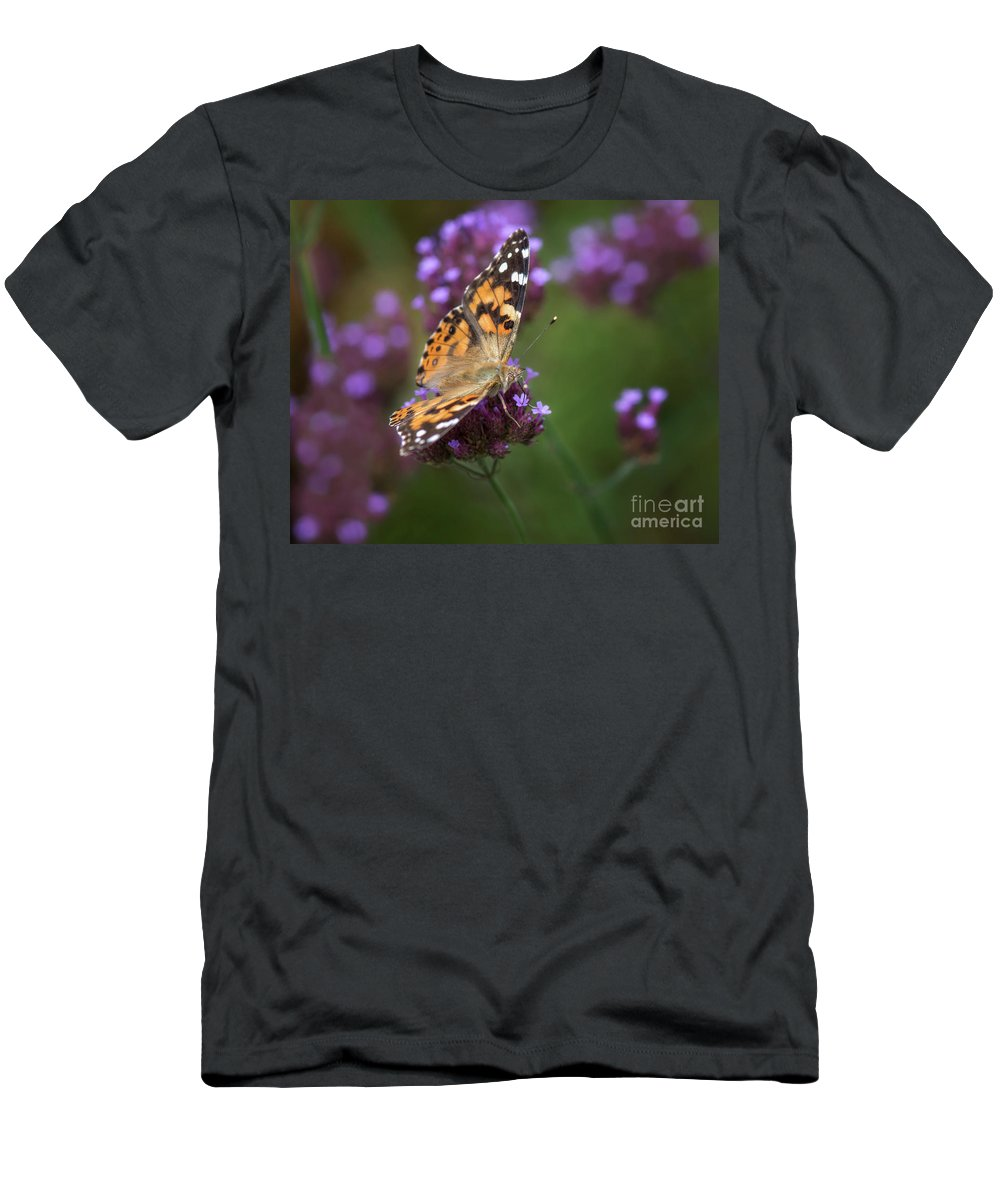 Painted Lady Men's T-Shirt (Athletic Fit) featuring the photograph Bespeckled by Claudia Kuhn
