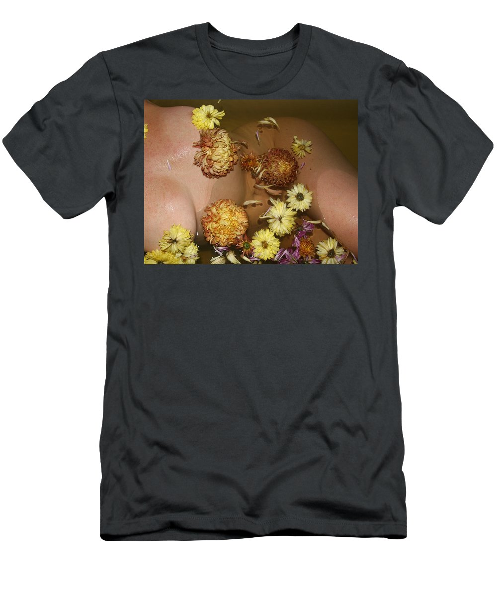 Lucky Cole Everglades Photographer Female Glamorous Photographs Natural Settings Female Nudes Men's T-Shirt (Athletic Fit) featuring the photograph Flowers by Lucky Cole