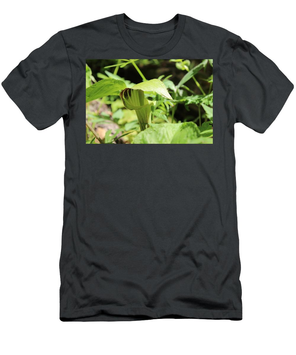 Flowers Men's T-Shirt (Athletic Fit) featuring the photograph Jack-in-the-pulpit by Cliff Ball