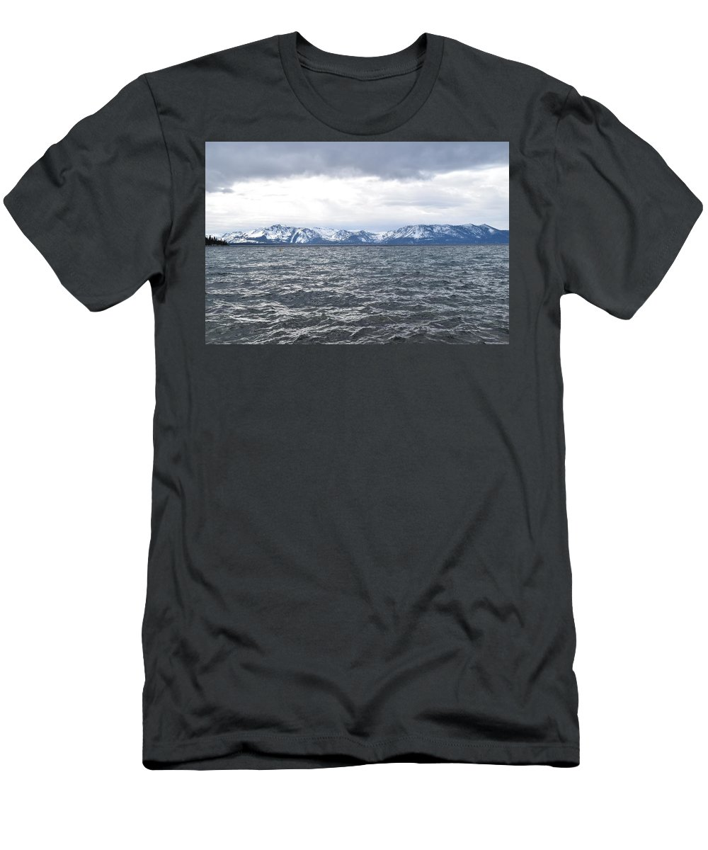 Lake Men's T-Shirt (Athletic Fit) featuring the photograph Lake Tahoe by Christina McNee-Geiger