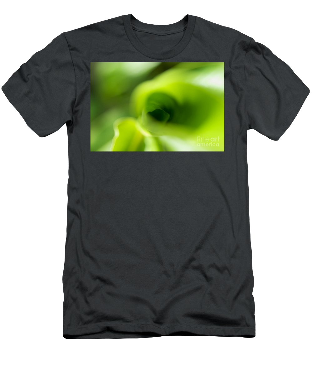 83-pfs0185 Men's T-Shirt (Athletic Fit) featuring the photograph Leaf Abstract by Ray Laskowitz - Printscapes