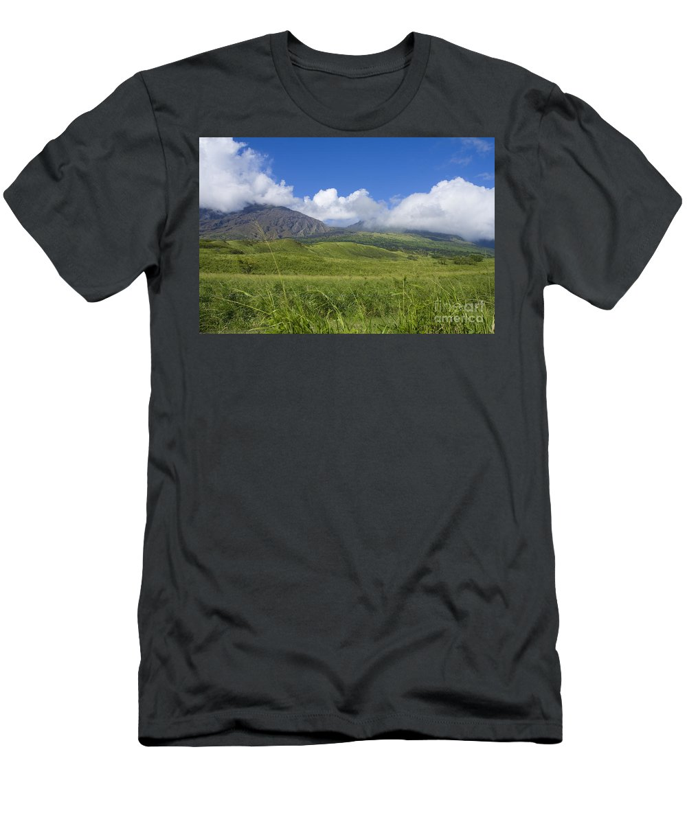 Afternoon Men's T-Shirt (Athletic Fit) featuring the photograph Maui Haleakala Crater by Ron Dahlquist - Printscapes