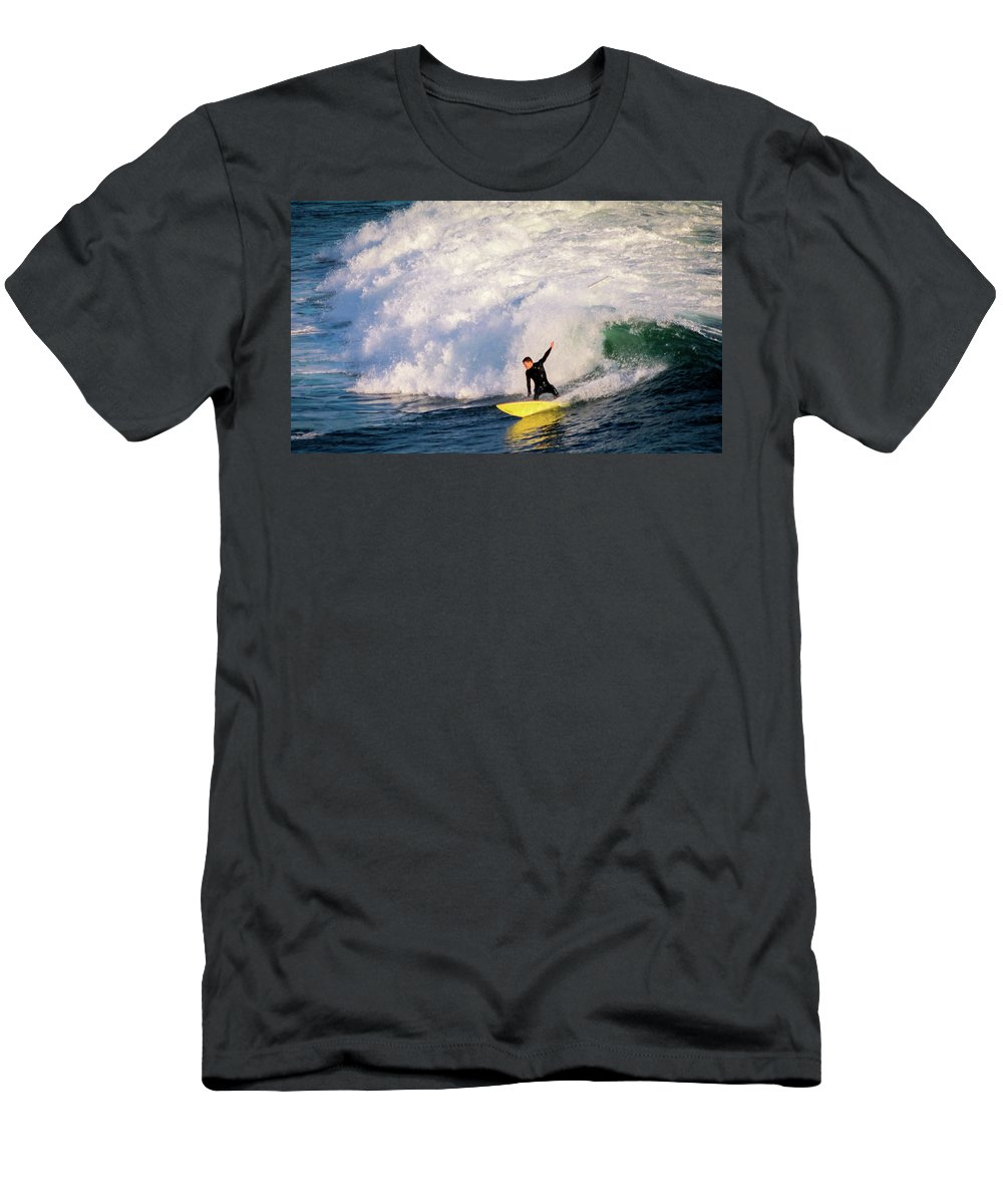 Men's T-Shirt (Athletic Fit) featuring the photograph Santa Cruz Sunset by Janine Moore