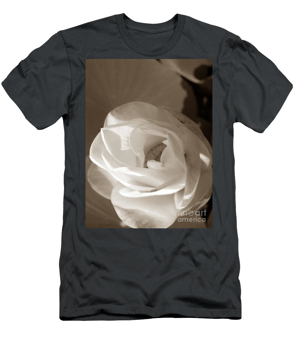 Lotus Men's T-Shirt (Athletic Fit) featuring the photograph Softly by Amanda Barcon