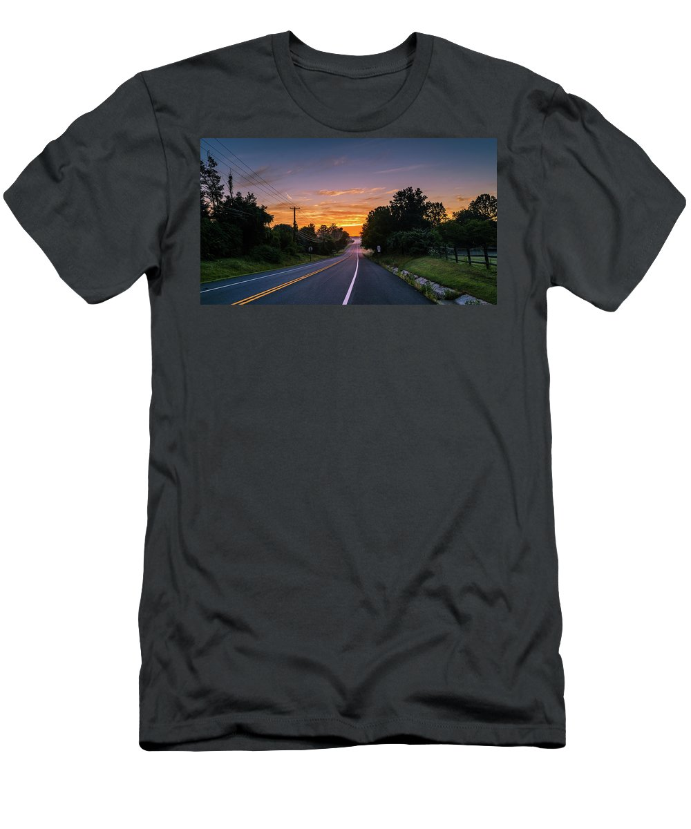 2016 Men's T-Shirt (Athletic Fit) featuring the photograph Sunrise by Jim Archer