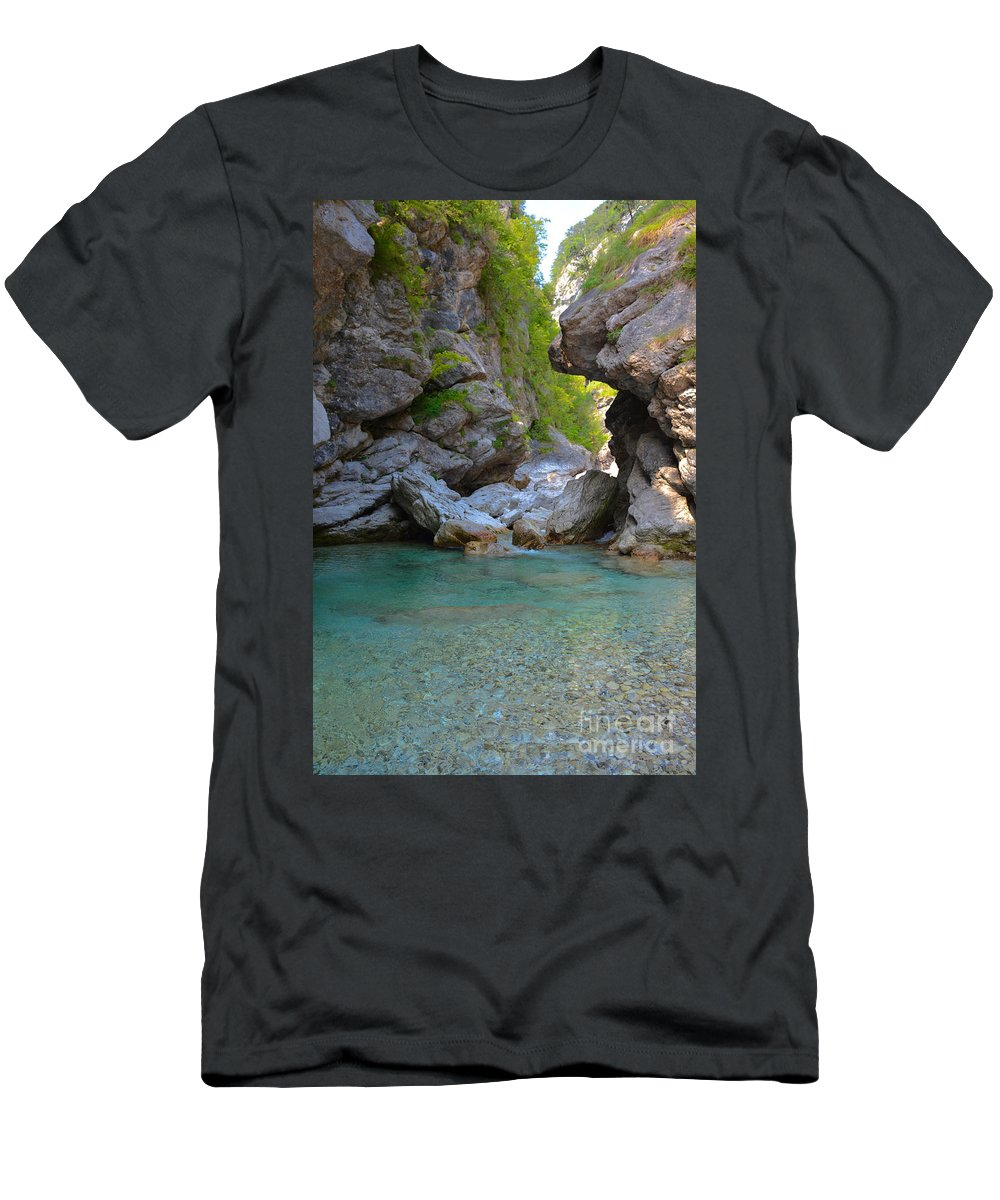 Tramonti Di Sotto Men's T-Shirt (Athletic Fit) featuring the photograph Tramonti Di Sotto by Photos By Zulma
