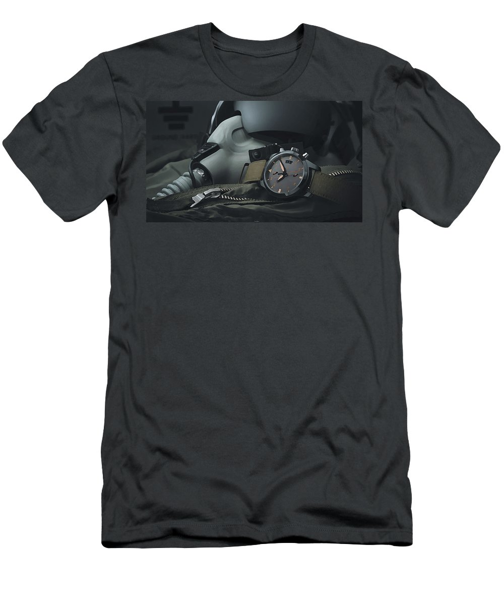 Watch Men's T-Shirt (Athletic Fit) featuring the digital art Watch by Lora Battle