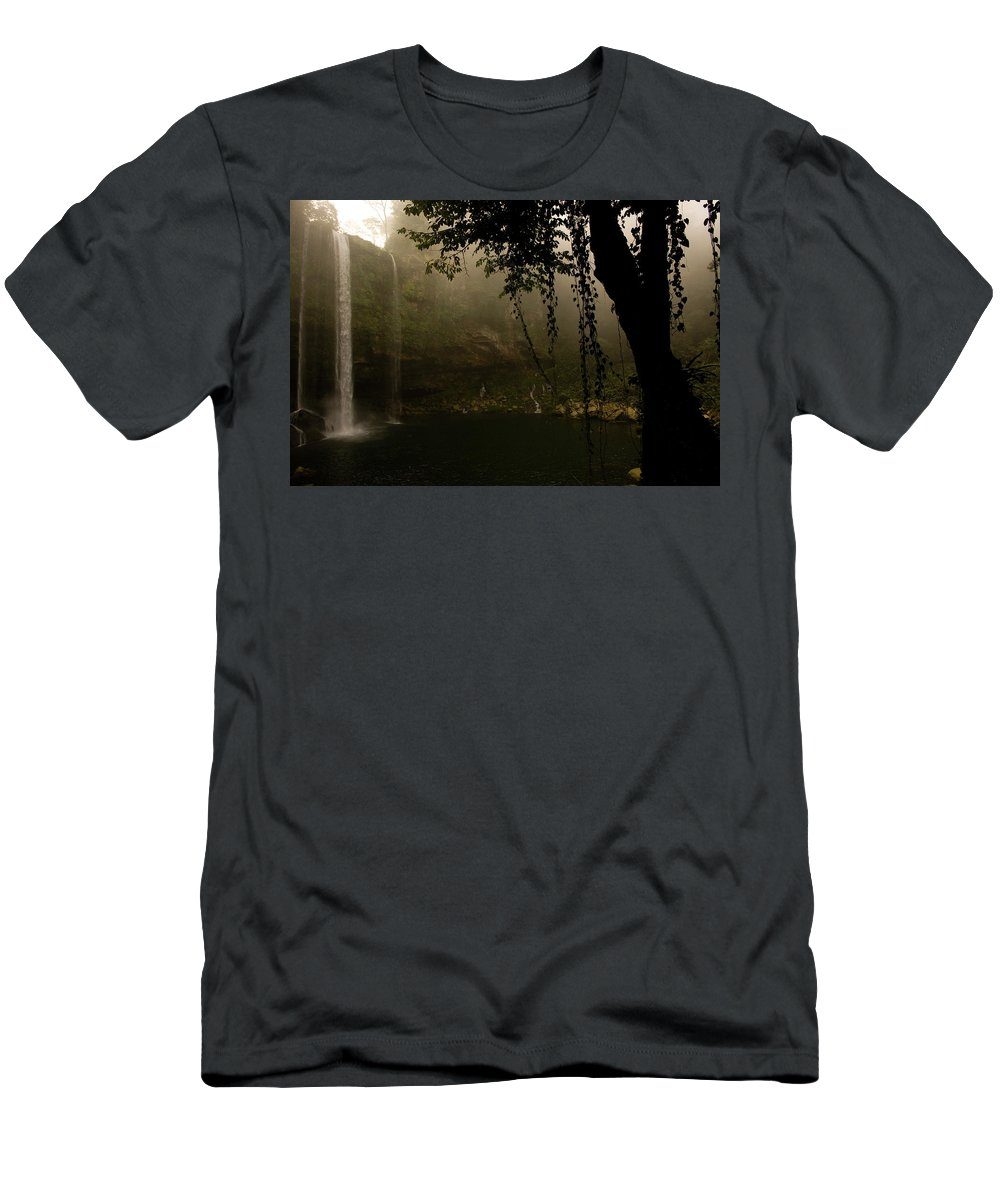 Ecotourism Men's T-Shirt (Athletic Fit) featuring the photograph Waterfall by Chico Sanchez