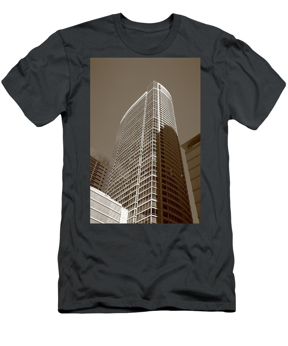 America Men's T-Shirt (Athletic Fit) featuring the photograph Chicago Skyscrapers by Frank Romeo